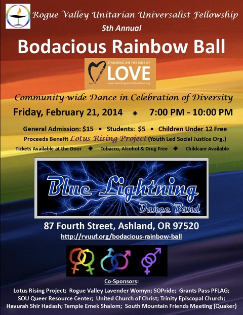 Blue Lighting plays the 5th Annual Bodacious Rainbow Ball!