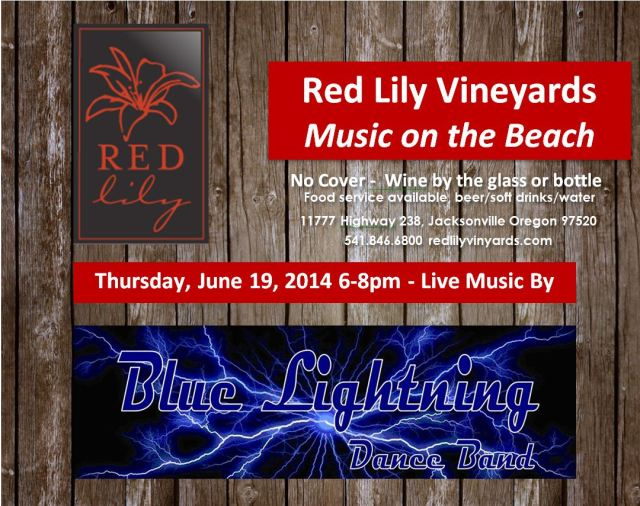 Blue Lightning at Red Lily Vineyards 6-19-14!
